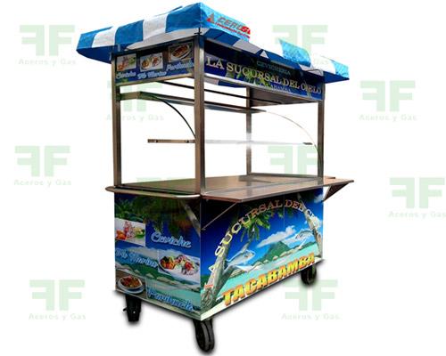 carrito cevichero carro para venta de ceviche