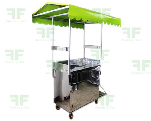 carrito para jugos carro en acero para venta ambulante