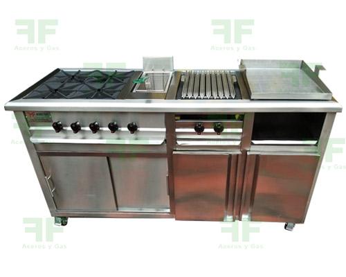 cocina industrial para comidas rápidas