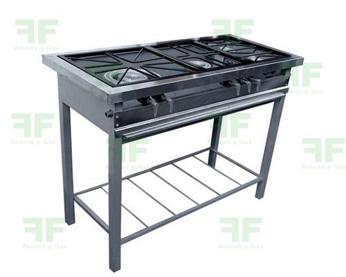 estufa industrial 4 fogones para restaurante