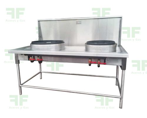 Estufas wok en acero para comida china