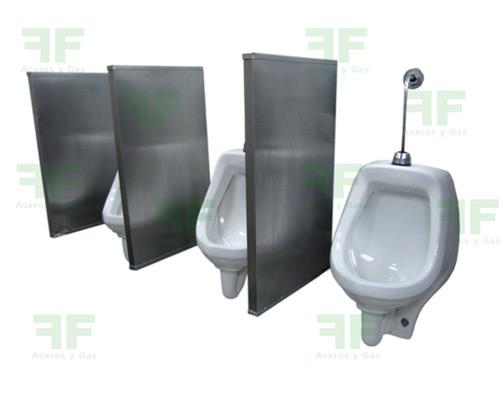 divisiones en acero para orinal baño