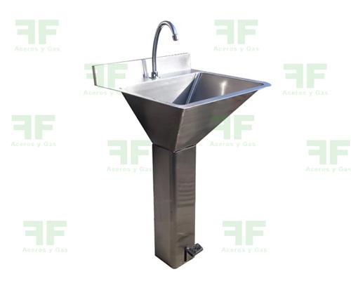 lavamanos pedestal en acero