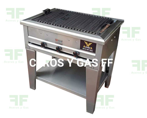 parrilla bbqs a gas fabricada en acero