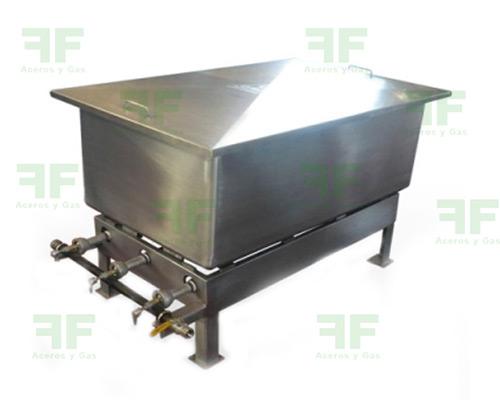 tanque de cocción en acero