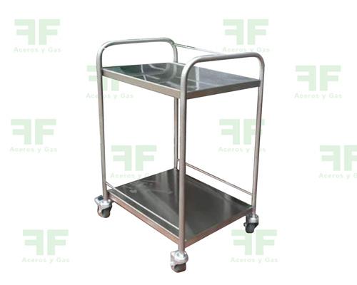 mesa de transporte en acero